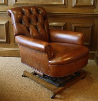 Leather Chairs of Bath Leather Rocking Chair Victorian