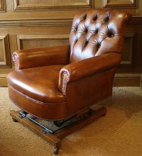 Leather Chairs of Bath Leather Rocking Chair Victorian ...