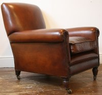Reupholstered Leather Club Chair Antique Leather Chair