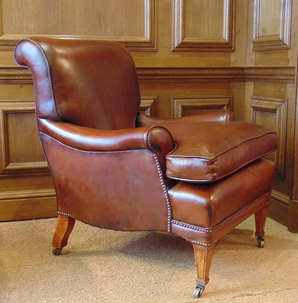 leather chairs of bath london etsy dining room chair covers chelsea design quarter antique library with cherrywood legs boxwood inlay