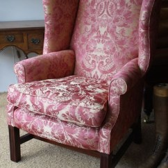 Queen Anne Wing Chair Toy Doll Bouncy Leather Chairs Of Bath Chelsea Design Quarter Georgian In Fabric | ...