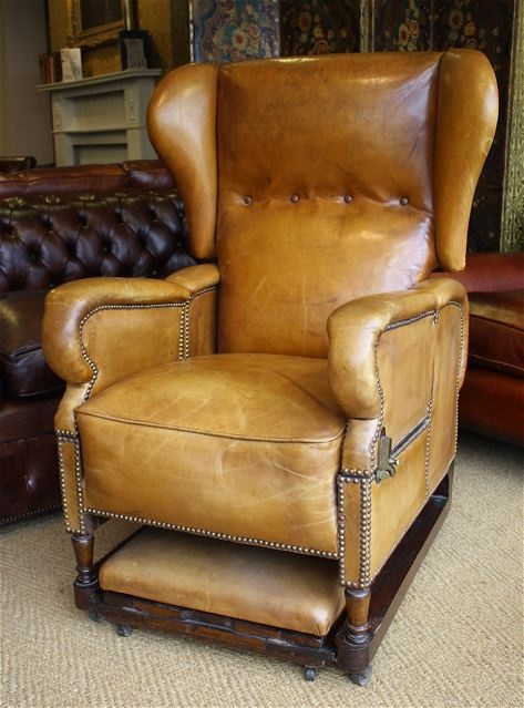 J Foot  Son Reclining Adjustable Leather Chair Leather
