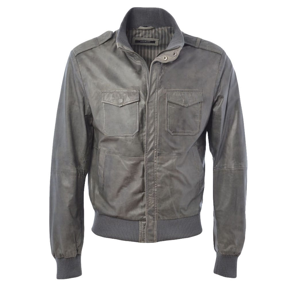 genuine leather sofa uk timber daybed mens jacket gray/ani : dublin   jackets