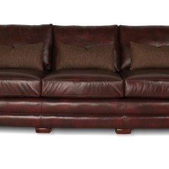 Deep Leather Sectional Sofa 45 Angled Mayborne  Furniture
