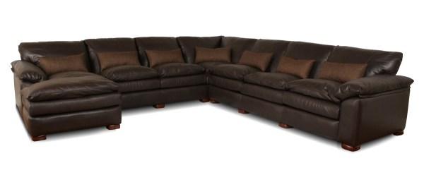 Geneva Deep Leather Sectional