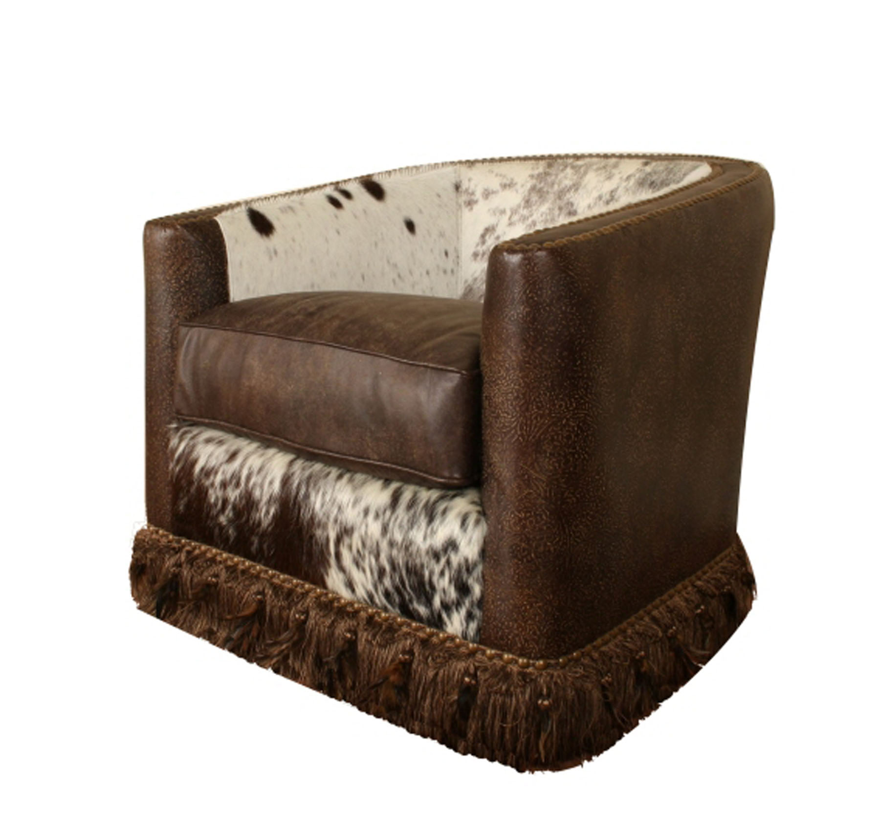 leather swivel barrel chair chairs covers for sale hill country collection