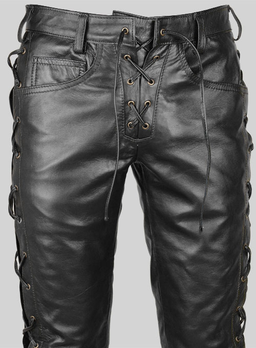 Laced Leather Pants  Style  515  LeatherCultcom