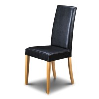 Buy The Julian Bowen Athena Black Leather Dining Chair -  ...