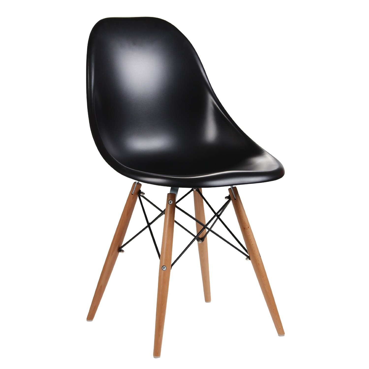 eames leather chair dining resin wicker rocking canada inspired moulded black