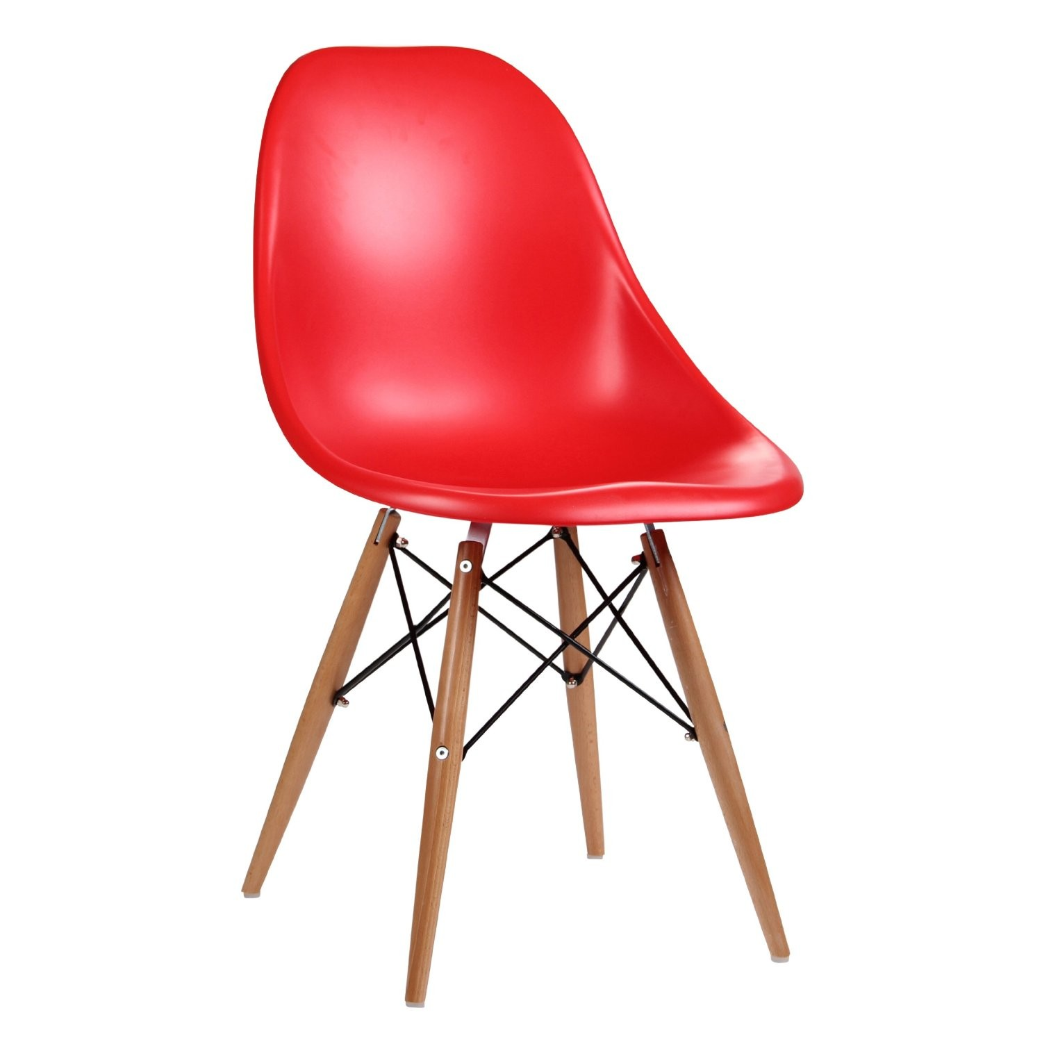 modern red chair tall gaming eames inspired moulded dining