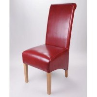 Buy The Krista Burgundy Leather Dining Chair - Ascendi