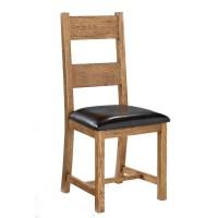 LPD Dorset Solid Oak Dining Chair ( Pair )