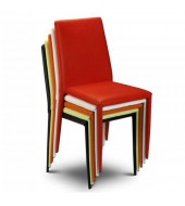 stacking dining chairs uk chair ottoman sleeper red leather bright vibrant ascendi
