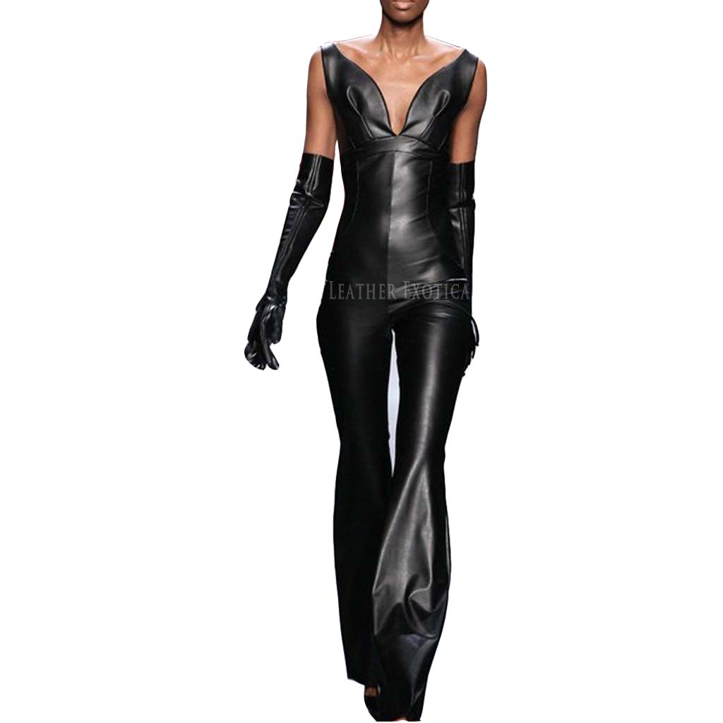 cool stylish leather jumpsuits