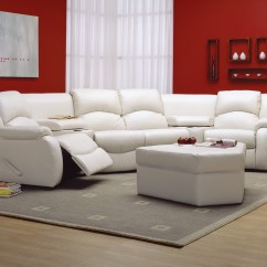 Home Theater Leather Sofa Damask Bed Dane Seating  Express Furniture