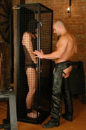 men wearing leather