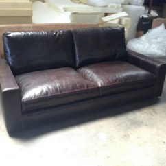 Leather Sofa Nova Scotia Simmons Bed Review 84″ Braxton Twin Cushion In Brompton Cocoa ...