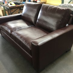 72 Lancaster Leather Sofa Chairs Braxton In Range Chocolate 43 Inch Depth The Right Front View Of Italian