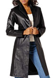 slim fit front button lamb leather coat