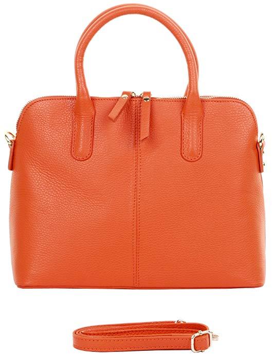 Primo Sacchi Italian Textured Leather Hand Bag