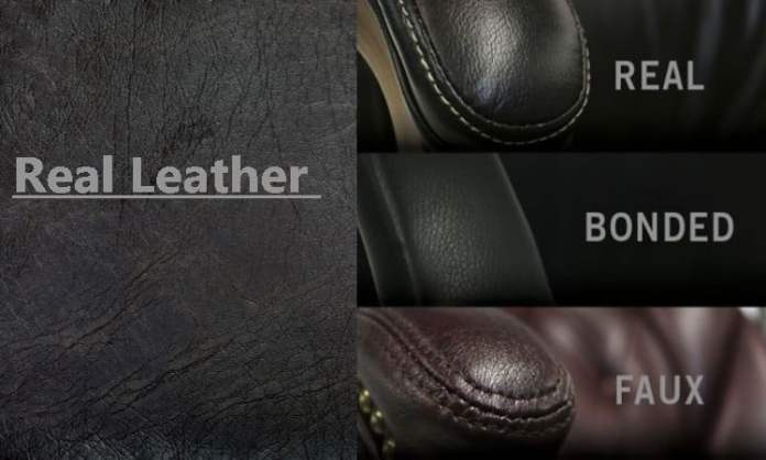 faux leather vs bonded leather vs real leather