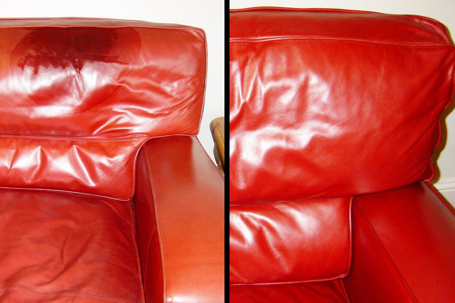 ink stain leather sofa beds on gumtree adelaide before / after - grease chair