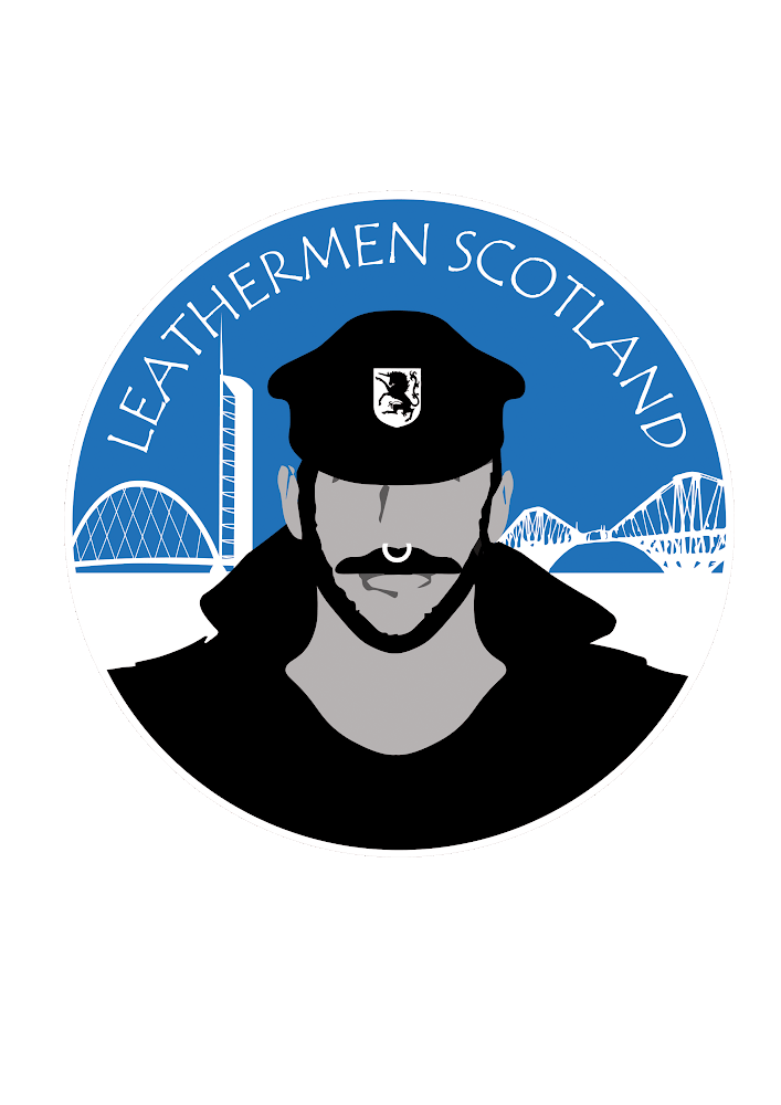 Leathermen Scotland logo in English