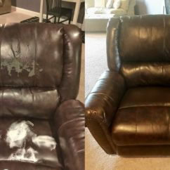 Leather Sofa Repair London Ontario Wayfair Sectional Magic Mender Vinyl Kit For Furniture Autos And Actual Customer On Bonded Before During After