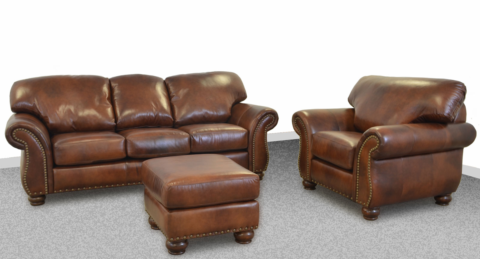 large leather chair with ottoman ergonomic dental grande sofa the company