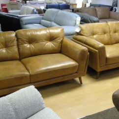 Vintage Leather Sofa Company Z Cadiz 3 Seater And 2 Light Tan 1499 Swansea Superstore