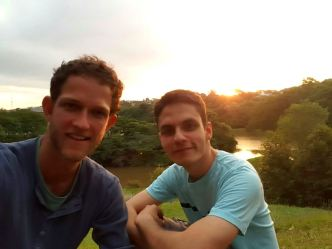 Oton and I enjoying the sunset in a park
