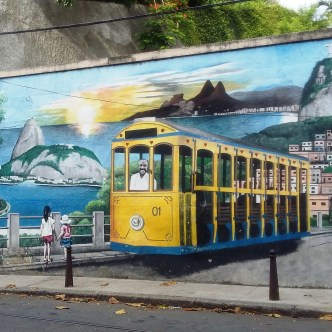 The locals love their traditional yellow tram