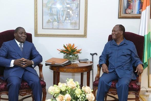 Alassane Ouattara rassure Denis Sassou N'guesso de sa «pleine forme»