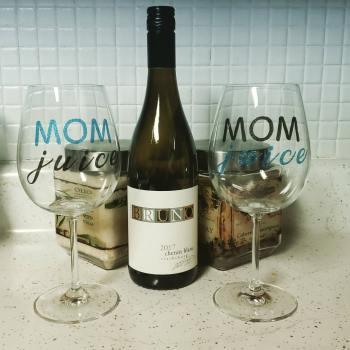 Mom Juice Glass