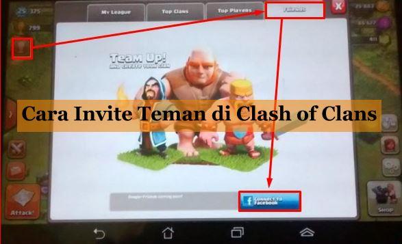 Cara Invite Teman di Clash of Clans