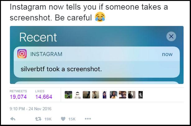 Instagram Stories Notification