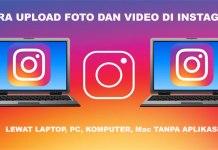 Cara upload foto di instagram lewat lapto