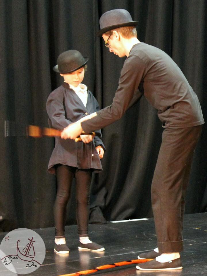 stage de mime sur Charlot de Charlie Chaplin pour enfants animé par l'artiste mime Philippe Pillavoine