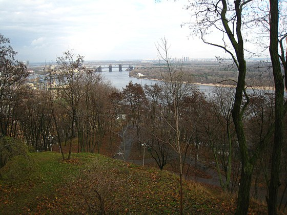 Overlooking the Dnieper River