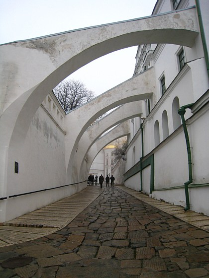 These amazing buttresses separated the outer and inner walls of the upper Lavra.