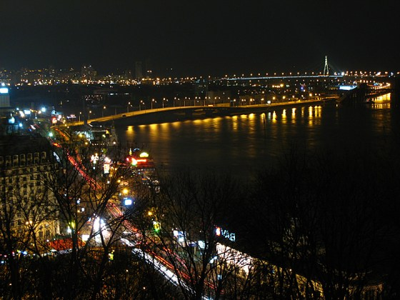 Looking northward out over the Dnieper