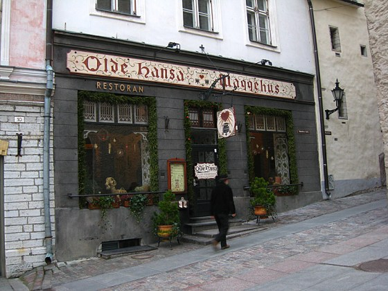 Olde Hanse, one of the two oldest pubs in Tallinn.