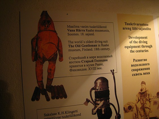 The museum had some really cool stuff, like the first scuba suit.