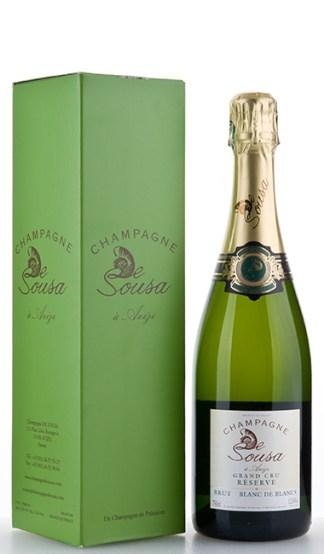 Geschenkbox mit eine 750ml Flasche Réserve Brut Blanc de Blancs Grand Cru NV De Sousa et Fils