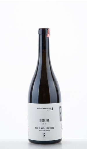 """Riesling Riede Steiner Schreck """"This is not a love song"""" 2016 –  HM Lang"""