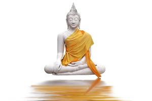Buddha über Wasser