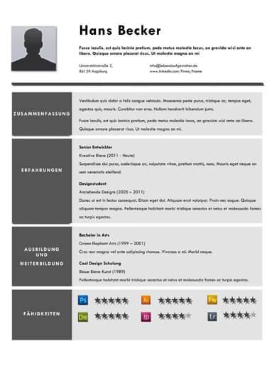Professional resume / cv template for pages and word. 54 Kreative Lebenslauf Vorlagen Lebenslaufgestalten