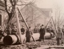 Bau einer Trinkwasserleitung im Ruhrgebiet um 1900 (Foto RWW)
