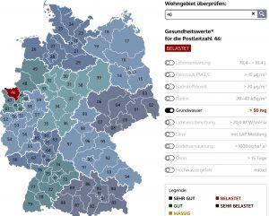 Ein Datentest für das westliche Ruhrgebiet mit der Postleitzahl 46 (Abrufe am 26.8.2016)