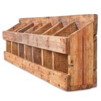 Wandregal-Weinregal TINI Rustic-Grey aus recyceltem Holz ...